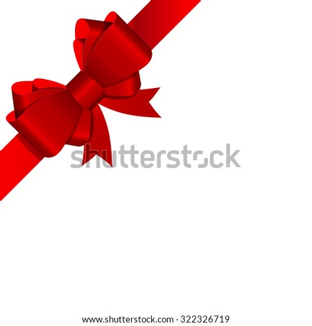 Gift Bow with Ribbon Illustration