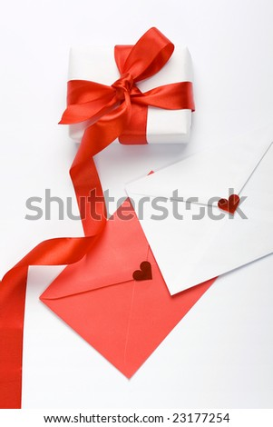 gift box and love letters
