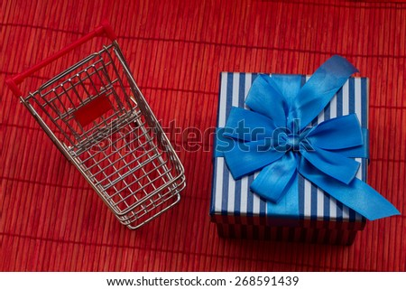 gift box and trolley
