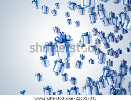 Gift box celebration background  - stock photo