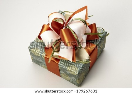 gift box collection on white