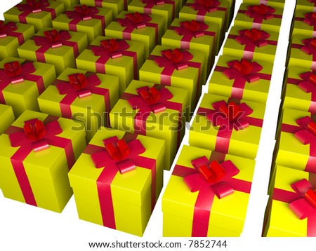 gift box - 3d isolated illustration