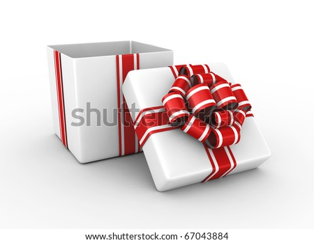 Gift box - 3d render - stock photo