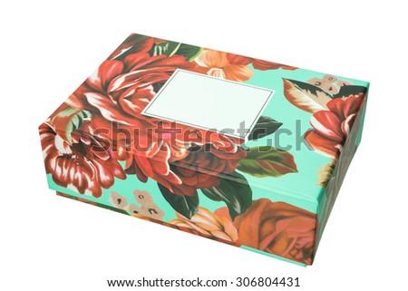 gift box Flower on isolated background - stock photo