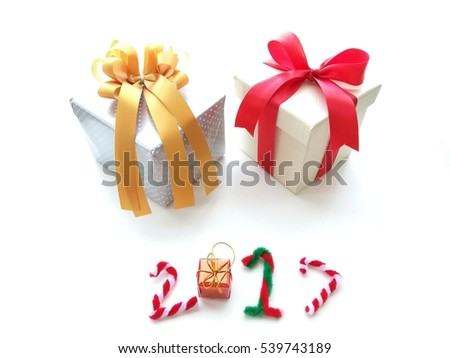 Gift box for new year 2017
