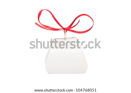 Gift box for sweets, isolated on a white background