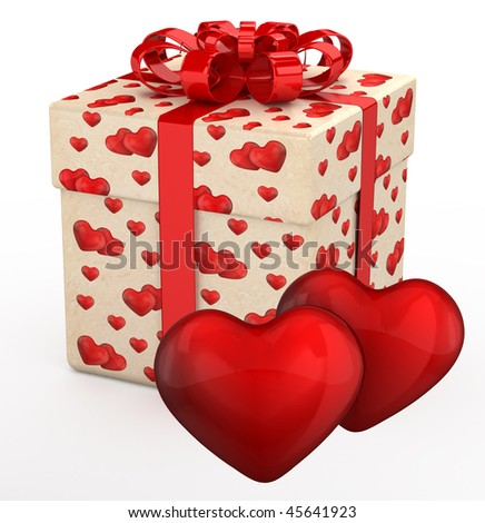 gift box valentines day presents two stock illustration 45641923, Ideas