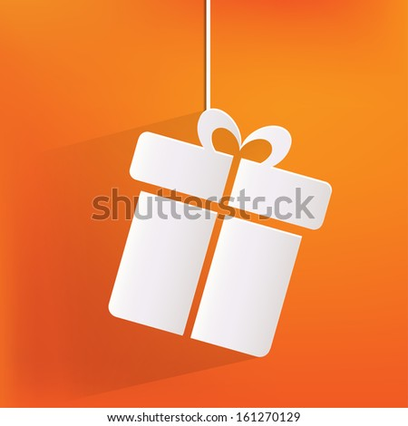 Gift box icon - stock photo
