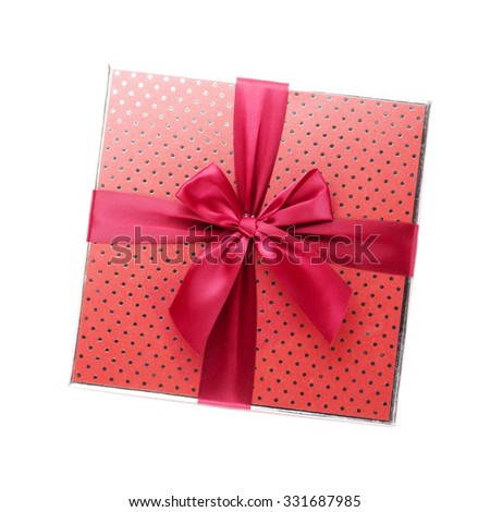 Gift box. Isolated on white background - stock photo