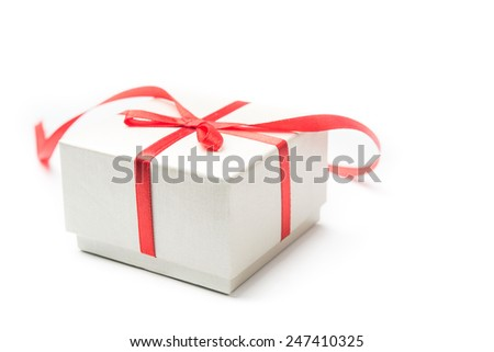 Gift box isolated over white background