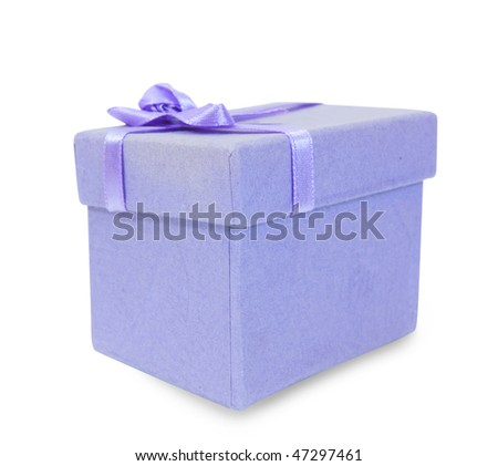 gift box on white background. Isolated