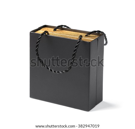 gift box on white table isolated light background - stock photo