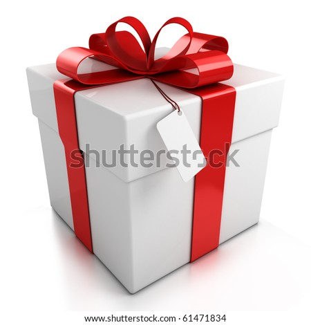 Gift box over white background 3d 61471834 shutterstock gift box over white background 3d illustration negle Choice Image