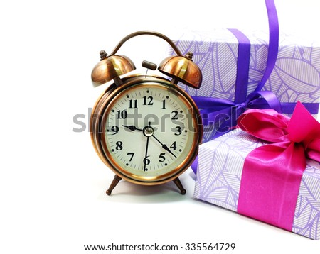 gift box with alarm clock