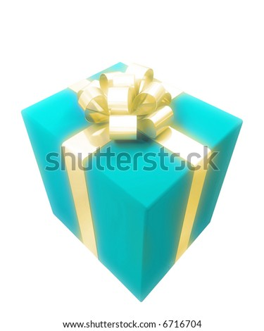gift box with gold ribbon for great design
