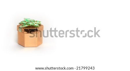 Gift box with place for your text - stock photo
