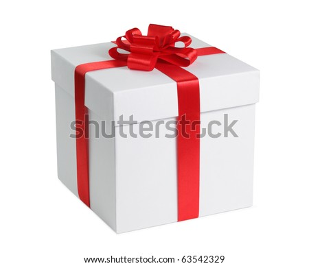 Gift box ribbon end bow isolated stock photo 63542329 shutterstock gift box with ribbon end bow isolated on the white background clipping path included negle Choice Image