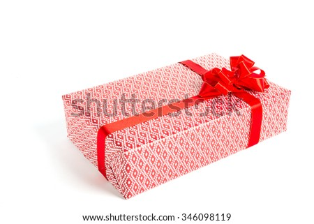 Gift box your Christmas day with white background.