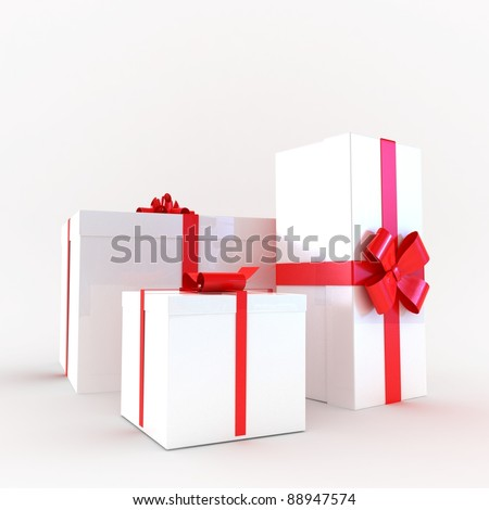 Gift boxes decorated