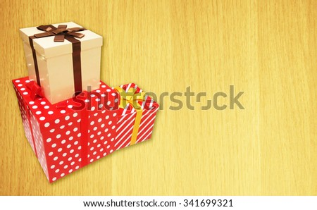 Gift boxes for Christmas day,this image have empty space for text.