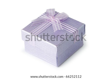 Gift boxes isolated on the white background - stock photo