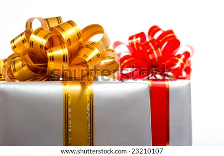 Gift boxes isolated over white
