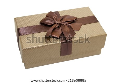 Gift boxes on white background - stock photo