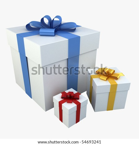 Gift Boxes - Photo Realistic! 3D renderings - stock photo