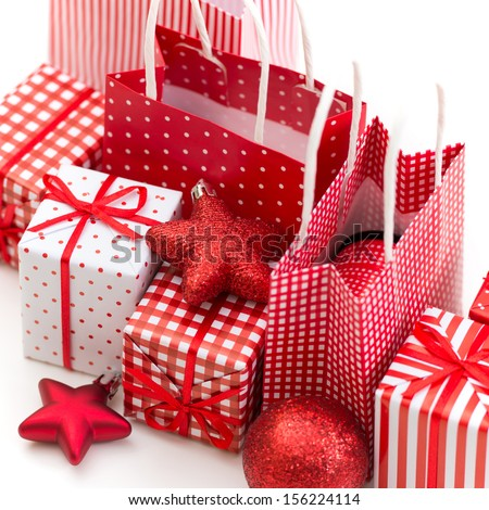 gift boxes xmas presents wrapped red stock photo 100 legal protection 156224114 shutterstock - Xmas Presents