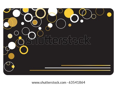 gift card, invitation card, greeting card or credit card
