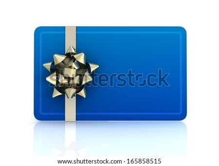gift card on white background - stock photo