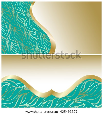 Vector Gift Card Template Waves Design Stock Vector 404005198