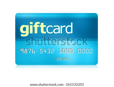Gift card with a clipping path. - stock photo