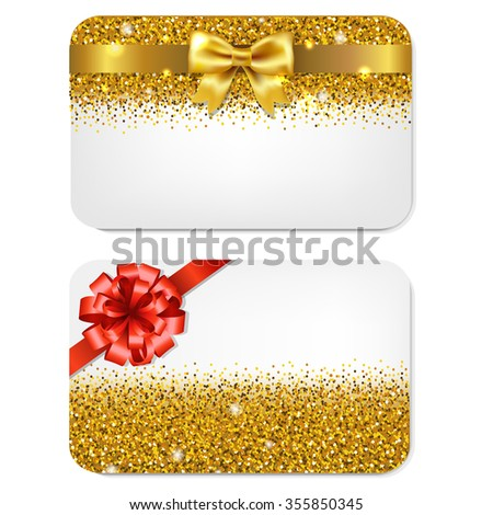 Gift Cards Set  - stock photo