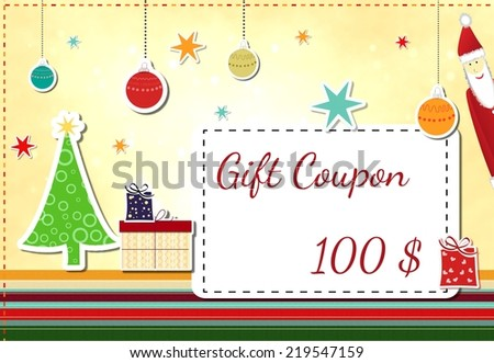 gift coupon - stock photo