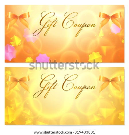 Gift Card Template Corrugated Texture Gift Vector 129871862 – Voucher Card Template