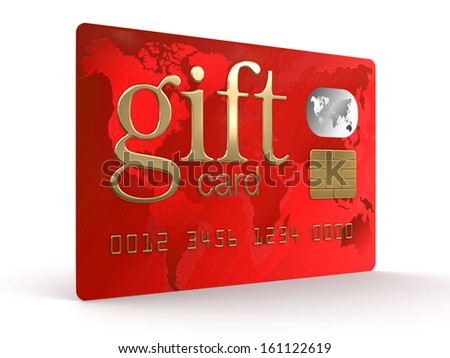 Gift Credit Card (clipping path included) - stock photo
