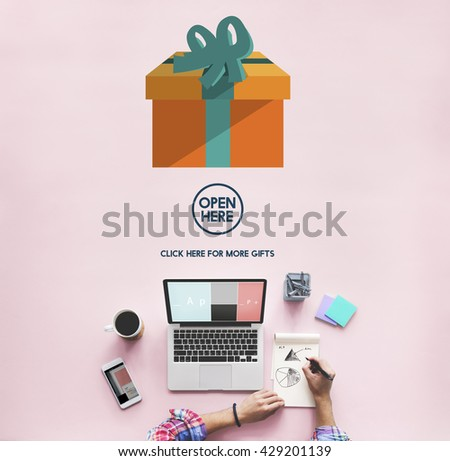Gift Festive Holidays Occasion Celebration Concept - stock photo