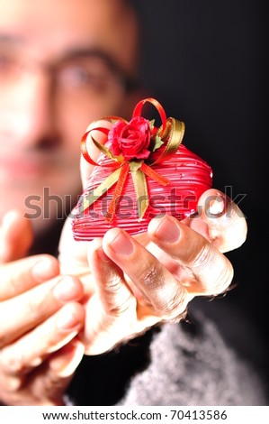 gift from him - stock photo