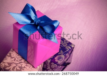 Gift, Gift Box, Box. - stock photo