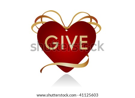 "Gift icon for Christmas or Valentine's Day. Could work well as a ""donate"" button for charities or blood drives as well. - stock photo"