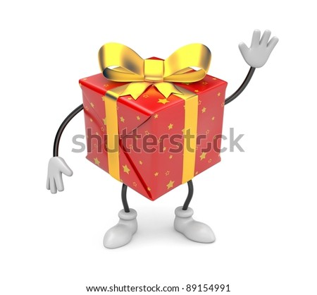 Gift. Image contain clipping path - stock photo
