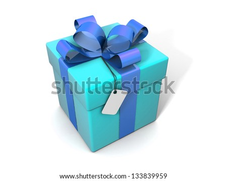Gift isolated on a white background - stock photo