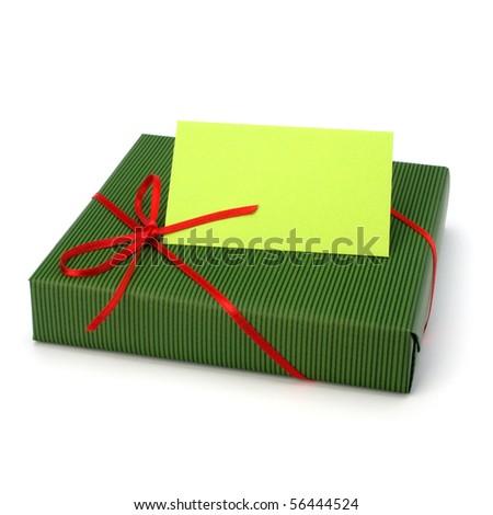 gift isolated on white background close up - stock photo
