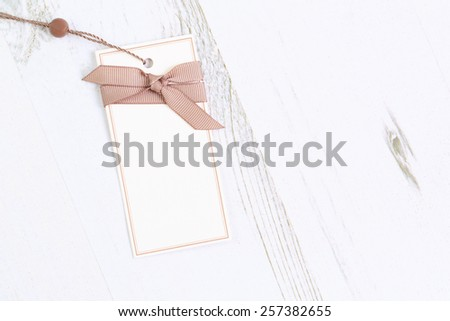 Gift label on white background - stock photo