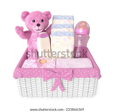 gift Layette for babies - stock photo