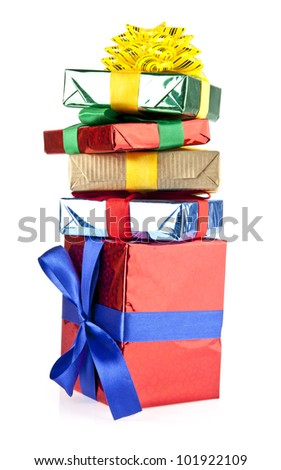 gift on a white background - stock photo