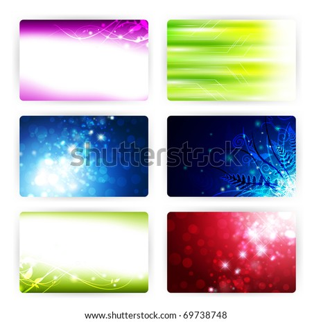 gift or credit card templates, 86x54mm