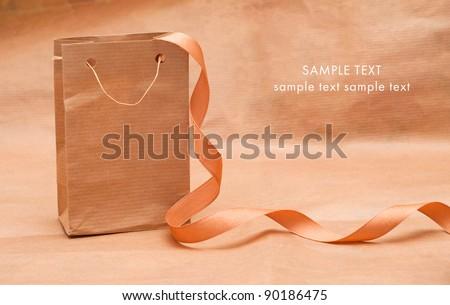 Gift paper bag - stock photo