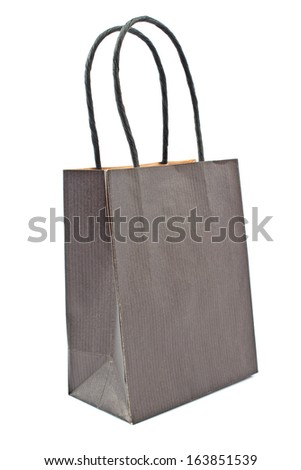 Gift paper shopping bag isolated  on white